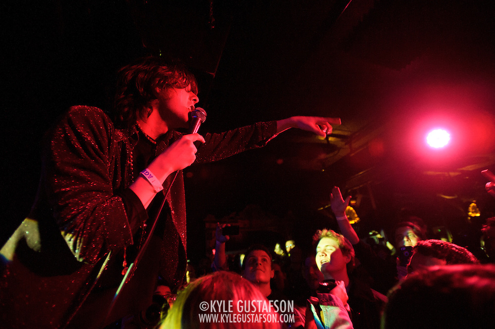 WASHINGTON, DC - February 27th  2013 - Sam France of buzzing indie rock duo Foxygen performs at the Rock N Roll Hotel in Washington, D.C. The band's sophomore album,  We Are the 21st Century Ambassadors of Peace & Magic, has garnered a significant amount of buzz after being released in late 2012. (Photo by Kyle Gustafson/For The Washington Post)