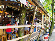 """The open air Hot Rocks bar in Puerto Viejo, Limon, Costa Rica - the """"center"""" of town!"""