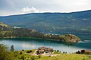Lakeshore real estate property on the edge of Kalamalka Lake near Vernon, British Columbia