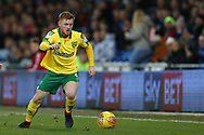 Harrison Reed of Norwich city in action.EFL Skybet championship match, Cardiff city v Norwich city at the Cardiff city stadium in Cardiff, South Wales on Friday 1st December 2017.<br /> pic by Andrew Orchard, Andrew Orchard sports photography.