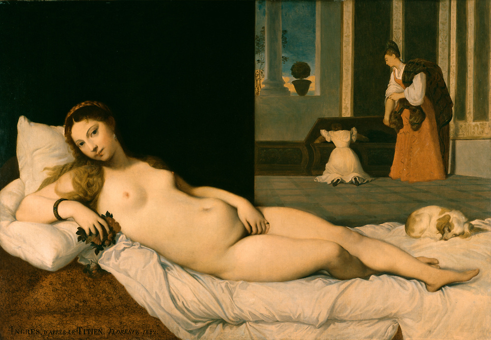 Jean-Auguste-Dominique Ingres (French, 1780-1867). 'Reclining Venus,' 1822. oil on canvas. Walters Art Museum (37.2392): Acquired by Henry Walters.