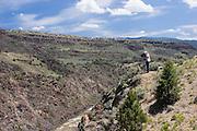Photographer on rim of Rio Grande Gorge