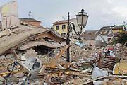 Il centro di Amatrice distrutto dal sisma che ha colpito il centro Italia la notte del 24 agosto. Amatrice (RI) 30 agosto 2016. Christian Mantuano / OneShot<br /> <br /> A powerful earthquake rattled a remote area of central Italy on August 24, 2016. Christian Mantuano / OneShot