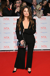 Mimi Bouchard attending the National Television Awards 2018 held at the O2, London. Photo credit should read: Doug Peters/EMPICS Entertainment