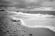 Fine Art:<br /> <br /> Sand, waves, seafood and a cloudy day.