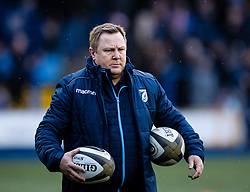 Head Coach John Mulvihill of Cardiff Blues during the pre match warm up<br /> <br /> Photographer Simon King/Replay Images<br /> <br /> Guinness PRO14 Round 9 - Cardiff Blues v Dragons - Thursday 26th December 2019 - Cardiff Arms Park - Cardiff<br /> <br /> World Copyright © Replay Images . All rights reserved. info@replayimages.co.uk - http://replayimages.co.uk