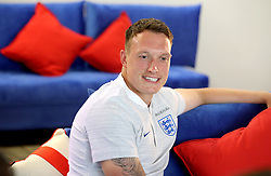 England's Phil Jones during the press conference at Repino Cronwell Park, Repino. PRESS ASSOCIATION Photo. Picture date: Friday June 15, 2018. See PA story WORLDCUP England. Photo credit should read: Owen Humphreys/PA Wire. RESTRICTIONS: Editorial use only. No commercial use. No use with any unofficial 3rd party logos. No manipulation of images. No video emulation.