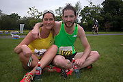 NO FEE PICTURES<br /> 28/5/16 Andrea Campbell, Skerries and Kevin English, Kilnamanagh at the Irish Kidney Association's Run For Life in support of Organ Donation at Corkagh Park in Dublin. Pictures:Arthur Carron