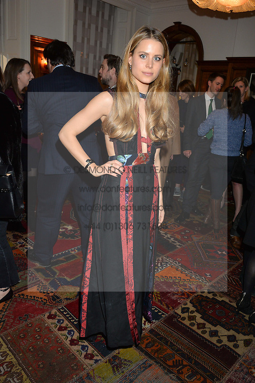 LONDON, ENGLAND 1 DECEMBER 2016: Irene Forte at the Smythson & Brown's Hotel Christmas Party held at Brown's Hotel, Albemarle St, Mayfair, London, England. 1 December 2016.