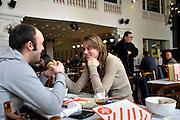 Gent, Belgie, Mar 16, 2009, Situaties binnenin Cultuurcafé De Vooruit, ©Christophe VANDER EECKEN