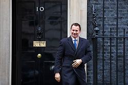 © Licensed to London News Pictures. 20/02/2018. London, UK. Secretary of State for Health and Social Care Jeremy Hunt leaves 10 Downing Street after the weekly Cabinet meeting. Photo credit: Rob Pinney/LNP