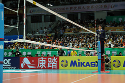 28-08-2010 VOLLEYBAL: WGP FINAL CHINA - USA: BEILUN NINGBO<br /> USA power beat China in straight sets / Referee Pedro Fabian CONCIA (ARG)<br /> ©2010-WWW.FOTOHOOGENDOORN.NL