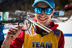 Kamil Stoch (POL) celebrates during trophy ceremony after the 2nd round of the Ski Flying Hill Individual Competition at Day 4 of FIS Ski Jumping World Cup Final 2019, on March 24, 2019 in Planica, Slovenia. Photo Peter Podobnik / Sportida