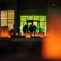 120114  Adron Gardner/Independent<br /> <br /> Lumarias light up the campus of the University of New Mexico in Gallup Monday.