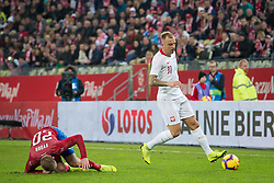 November 15, 2018 - Gdansk, Pomorze, Poland - Matej Vydra (20) Kamil Grosicki (11) during the international friendly soccer match between Poland and Czech Republic at Energa Stadium in Gdansk, Poland on 15 November 2018  (Credit Image: © Mateusz Wlodarczyk/NurPhoto via ZUMA Press)