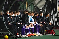 Players on the bench of Maribor before during football match between NK Maribor and Olimpija in 6th Round of Prva liga Telekom Slovenije 2020/21, on October 4, 2020 in Ljudski Vrt, Maribor, Slovenia. Photo by Blaž Weindorfer / Sportida