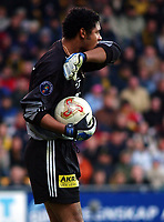 Keeper Emile Baron, Lillestrøm. Tippeligaen 2002: Lillestrøm - Rosenborg, Åråsen. 1. mai 2002. (Foto: Peter Tubaas/Digitalsport)