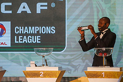 March 21, 2018 - Cairo, Egypt - Angolan footballer and former player for el ahly Gilberto during The draw of the group stage of Total CAF Champions League and 2nd 1/16th round of the Total CAF Confederation Cup conduct on Wednesday, 21 March 2018 in Cairo, Egypt. (Credit Image: © Islam Safwat/NurPhoto via ZUMA Press)