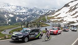 03.07.2013, Fuscher Lacke, Grossglockner Hochalpenstrasse,  AUT, 65. Oesterreich Rundfahrt, 4. Etappe, Matrei in Osttirol - St. Johann Alpendorf, im Bild Jure Golcer (SLO, Tirol Cycling Team) // during the 65 th Tour of Austria, Stage 4, from Matrei in Osttirol to St. Johann Alpendorf, Grossglockner Hochalpenstrasse, Austria on 2013/07/03. EXPA Pictures © 2013, PhotoCredit: EXPA/ Johann Groder