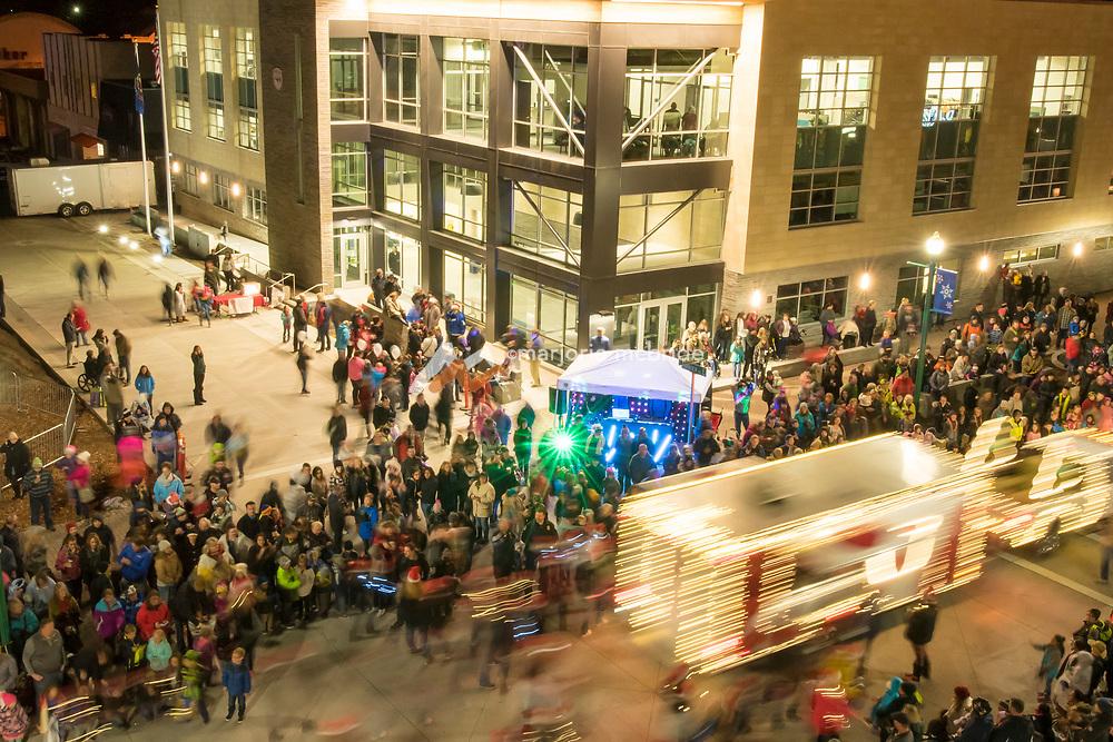 Downtown lights parade