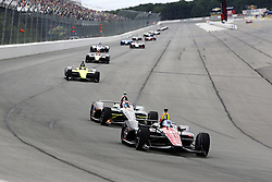 August 19, 2018 - Long Pond, Pennsylvania, United Stated - ROBERT WICKENS (6) of Canada battles for position during the ABC Supply 500 at Pocono Raceway in Long Pond, Pennsylvania. (Credit Image: © Justin R. Noe Asp Inc/ASP via ZUMA Wire)