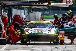 May 13, 2018 - Monza, Italie - 55 SPIRIT OF RACE (CHE) FERRARI F488 GTE GTE DUNCAN CAMERON (GBR) MATTHEW GRIFFIN (IRL) AARON SCOTT  (Credit Image: © Panoramic via ZUMA Press)