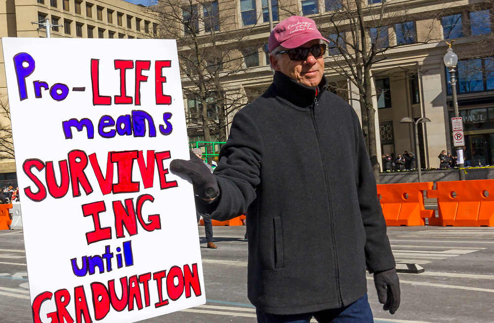 March For Our Lives rally against gun violence on March 24, 2018 in Washington, DC. Hundreds of thousands of people of all ages gathered at Pennsylvania Avenue demanding an end to mass school shootings and gun violence in America.