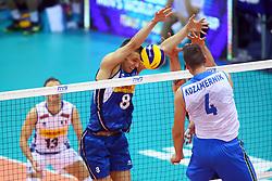 DANIELE MAZZONE BLOCKS<br /> ITALY VS SLOVENIA<br /> MEN'S VOLLEYBALL WORLD CHAMPIONSHIPS <br /> Florence September 18, 2018
