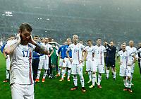 The delusion of Iceland players at the end of the match. delusione fine partita<br /> Paris 03-07-2016 Stade de France Football Euro2016 France - Iceland / Francia - Islanda Quarter finals <br /> Foto Matteo Ciambelli / Insidefoto