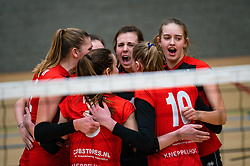 Louise Bijlsma of VCN celebrate during the league match Laudame Financials VCN - FAST on January 23, 2021 in Capelle aan de IJssel.