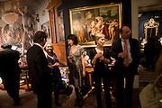 ALESSANDRA DI MONTEZEMOLO; ALIA TEDESCHI; CRISTIANA CLERICI; ENRICO PONZONE. Preview party for the Versace Sale.  The contents of fashion designer Gianni Versace's villa on Lake Como. Sothebys. Old Bond St. London. 16 March 2009.  *** Local Caption *** -DO NOT ARCHIVE -Copyright Photograph by Dafydd Jones. 248 Clapham Rd. London SW9 0PZ. Tel 0207 820 0771. www.dafjones.com<br /> ALESSANDRA DI MONTEZEMOLO; ALIA TEDESCHI; CRISTIANA CLERICI; ENRICO PONZONE. Preview party for the Versace Sale.  The contents of fashion designer Gianni Versace's villa on Lake Como. Sothebys. Old Bond St. London. 16 March 2009.