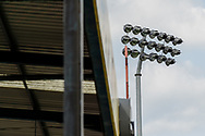 Floodlights during the EFL Sky Bet League 1 match between Bristol Rovers and Ipswich Town at the Memorial Stadium, Bristol, England on 19 September 2020.