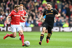 March 9, 2019 - Nottingham, England, United Kingdom - Ben Osborn (11) of Nottingham Forest makes a run with Mark Pugh (8) of Hull City closing during the Sky Bet Championship match between Nottingham Forest and Hull City at the City Ground, Nottingham on Saturday 9th March 2019. (Credit Image: © Jon Hobley/NurPhoto via ZUMA Press)