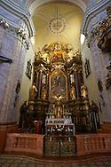 Baroque interior of The Carmelite church - ( Gy?r )  Gyor Hungary