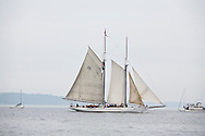 The historic schooner Adventuress sails into Commencement Bay for the Tall Ships Festival in Tacoma, WA  Thursday, July 3, 2008. (Photo/John Froschauer)
