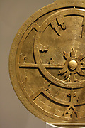 Universal astrolabe from Iraq made by? Allah al-Baghdadi, astronomer, and poet. Designed by the astronomer Abu Ja'far al-Hazin. Iraq (Baghdad). Bronze, Engraved