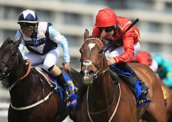 Ice Age ridden by Charles Bishop wins the Starlight Brightening Lives Handicap Stakes at Newbury Racecourse.