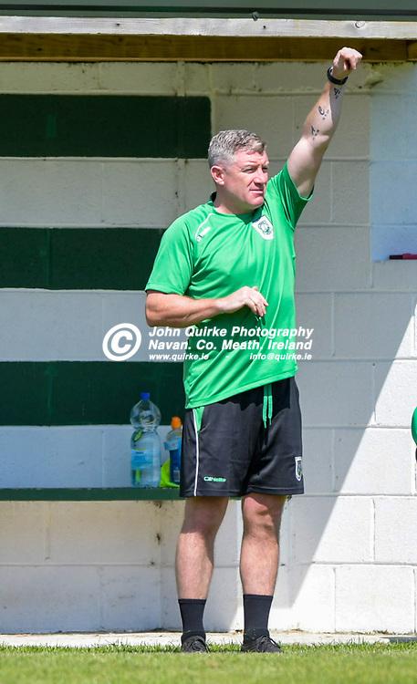 Trim Celtic manager, Alan Murphy, during the Trim Celtic v Duleek, NEFL (Premier) match in Tully Park, Trim.<br /> <br /> Photo: GERRY SHANAHAN-WWW.QUIRKE.IE<br /> <br /> 18-07-2021