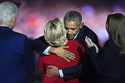 November 8, 2016 - Philadelphia, USA - 161107 President Barack Obama kramar om Hillary Clinton under en kampanj fÅ¡r Hillary Clinton som USA:s president den 7 november 2016 i Philadelphia  (Credit Image: © Joel Marklund/Bildbyran via ZUMA Wire)