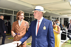 29 July 2021 - The QATAR Goodwood Festival Ladies Day at Goodwood Racecourse, West Sussex.<br /> Picture Shows - The Earl of March & Kinrara and John Gosden.<br /> <br /> NON EXCLUSIVE - WORLD RIGHTS