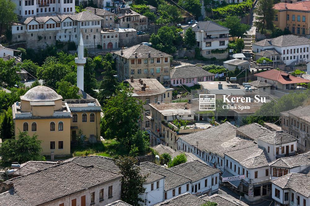 Gjirokaster, an old town in the mountain, UNESCO World Heritage site, Albania