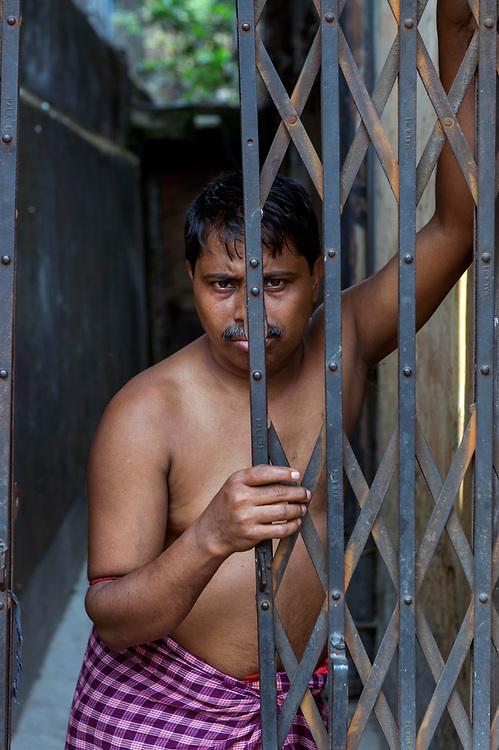 Portrait of a resident, Jorasanko district, Calcutta