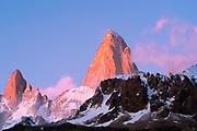 Sunrise view of El Chalten/Mount Fitz Roy, Los Glaciares National Park, Santa Cruz Province, Argentina