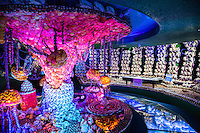 Takeshima Fantasy Museum displays a magical world created from over 50,000 shells from 110 different countries. Admire the creations of coral reefs, mermaids, tunnels, shipwrecks, puffing dragons, and even the story of Urashima Taro. Each sculpture is made completely out of shells.