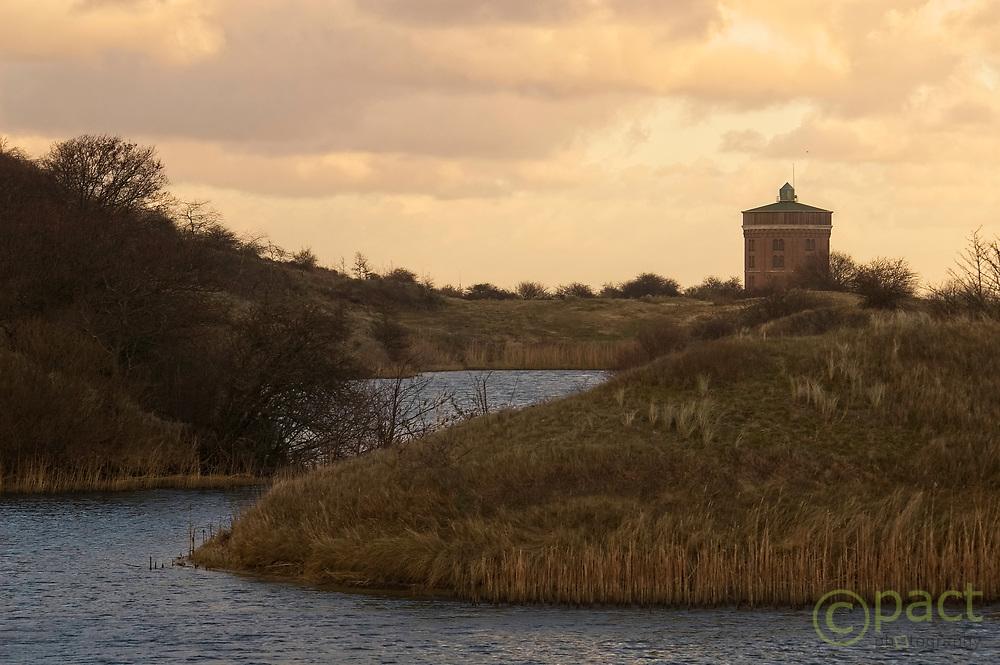 water tower in dunes in Pan van Persijn, Katwijk, the Netherlands, januay 2007