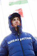 Freeskier Peter Speight, Great Britain, at the Pyeongchang athlete village on February 16th 2018 in Pyeongchang-gun, South Korea.