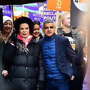 Bianca Jagger, Sadiq Khan join March4Women 2020, on 8 March 2020, London, UK