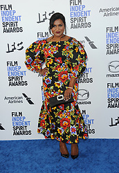 Mindy Kaling at the 35th Annual Film Independent Spirit Awards held at the Santa Monica Beach in Santa Monica, USA on February 8, 2020.