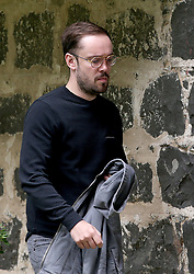 Jason Mumford, of Mumford & Sons, arriving at the main entrance to Wardhill Castle in Aberdeenshire, which is the venue for the wedding of Game Of Thrones stars Kit Harington and Rose Leslie.
