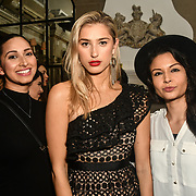 Jade Ashaa, Lilly Douse, Suki Rae attend The Bachelor UK 2019 launch night - The girls private screening on Channel 5 at Beach Blanket Babylon on 4 March 2019, London, UK